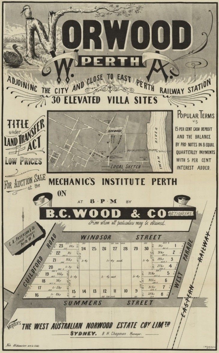 Norwood subdivision poster