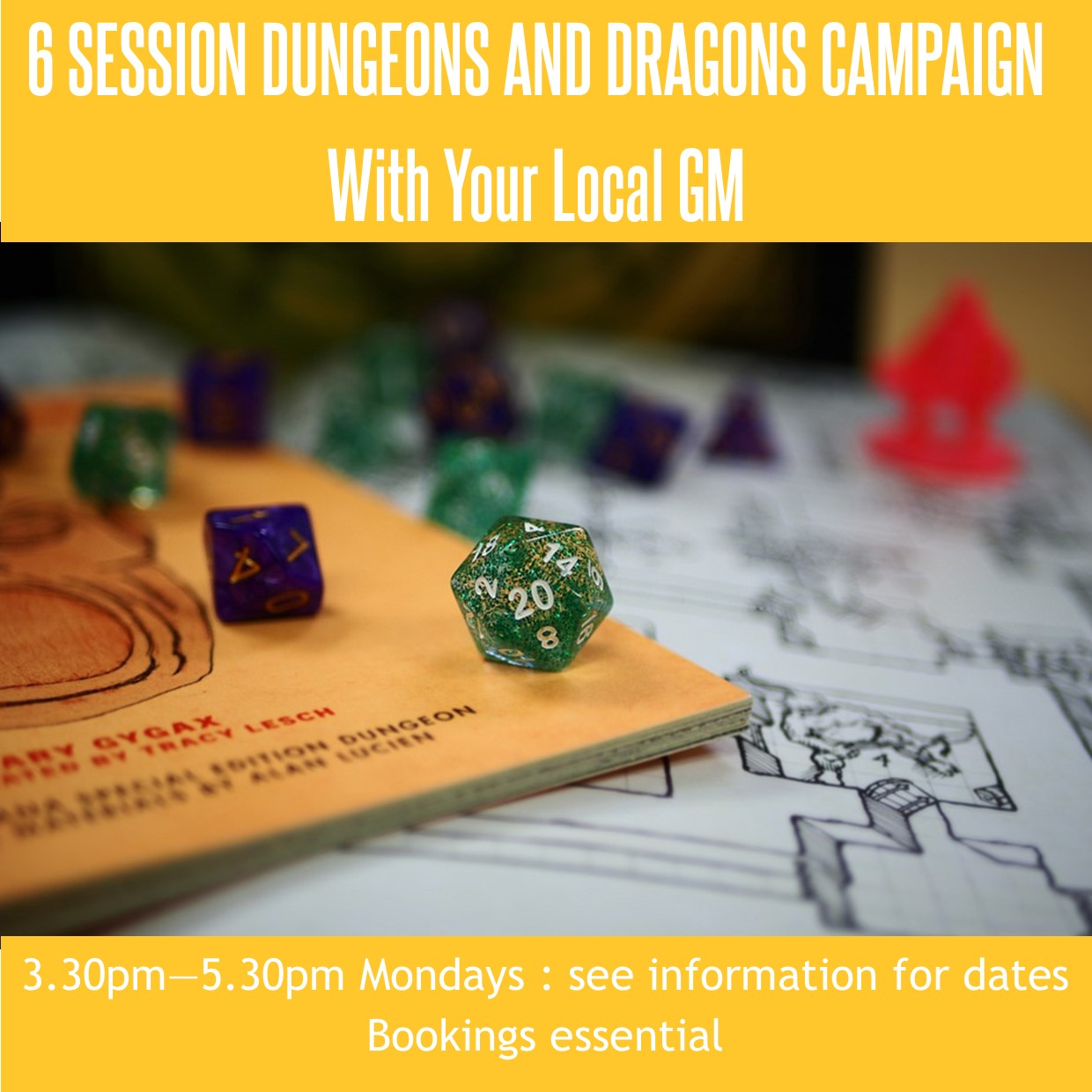 6 Session Dungeons and Dragons Campaign with Your Local GM