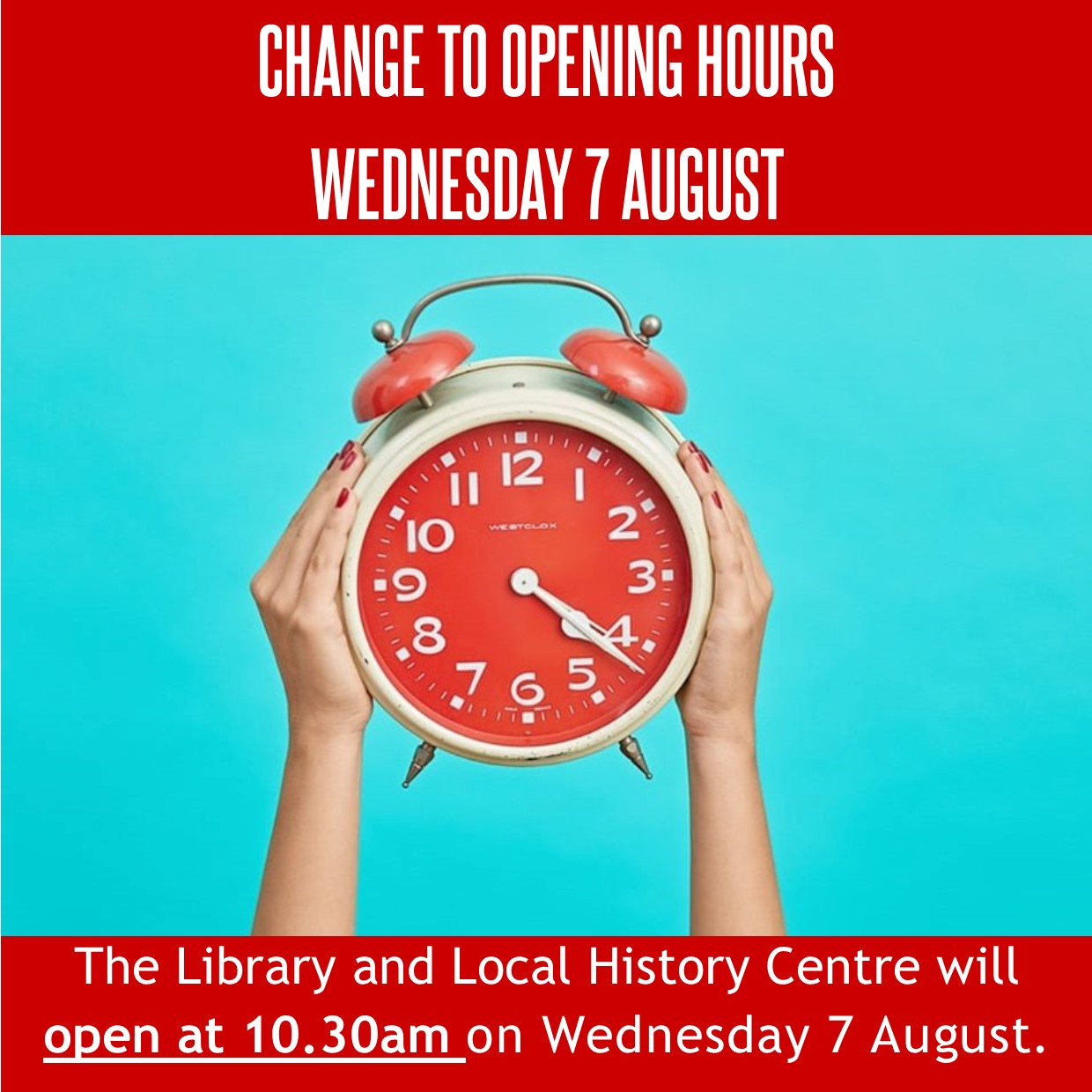 Temporary Change to Library Opening Hours